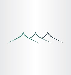 abstract stylyzed mountains icon vector image