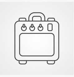 amplifier icon sign symbol vector image