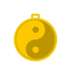 Amulet of yin yang icon vector