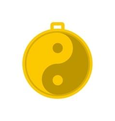 Amulet of yin yang icon vector image