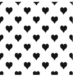Angular heart pattern seamless vector