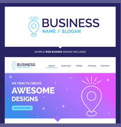 Beautiful business concept brand name location vector
