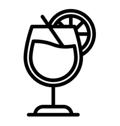 Bourbon cocktail icon outline style vector