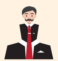 businessman flat abstract avatar man in suit vector image