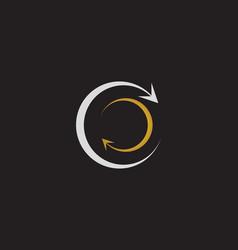 C circle logo and symbols vector