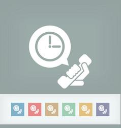 Clock phone icon vector