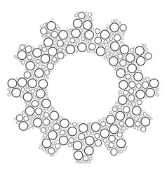 cog composition of circle bubble icons vector image