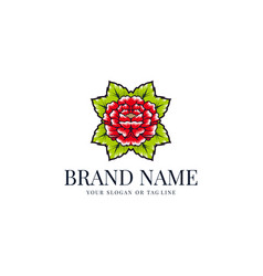 Creative flower logo vector