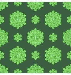 Creative Ornamental Seamless Green Pattern vector