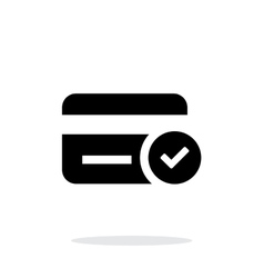 Credit card access icon on white background vector image