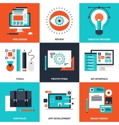 Design and Development vector image