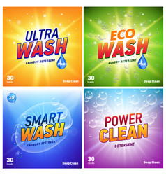 detergent packaging concept design showing eco vector image