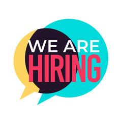 employment and recruiting hiring speech cloud vector image
