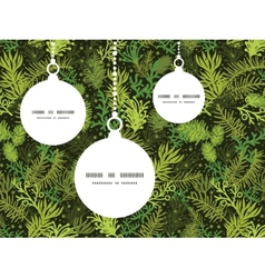 Evergreen christmas tree Christmas ornaments vector