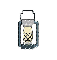 field lamp vector image