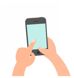 Finger tap on the screen smartphone vector