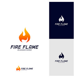 fire flame logo design template icon symbol vector image
