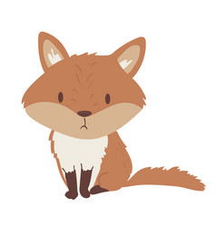 forest animal cute cartoon vector image