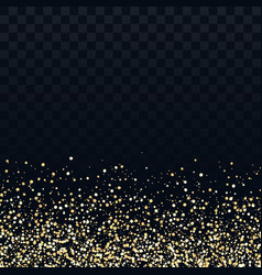 gold glitter particles on transparent background vector image