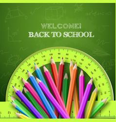 Green school composition vector