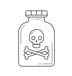 Hazardous poison line icon vector