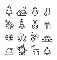 icon christmas vector image