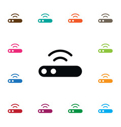 isolated connection icon modem element can vector image