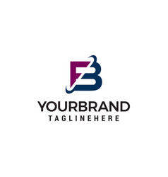 letter fb company logo design concept template vector image