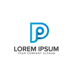 letter p modern logo design concept template vector image