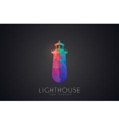 Lighthouse design Puzzle lighthouse Lighthouse vector image