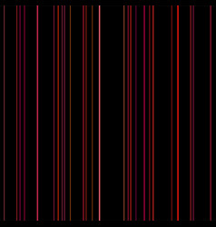line seamless pattern red lines on black vector image