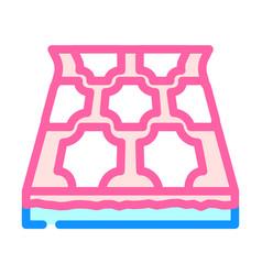 Linoleum layer floor color icon vector