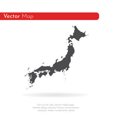 map japan isolated black on vector image