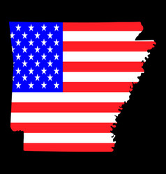 map us state arkansas with american vector image