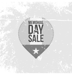 Memorial Day Sale Label with Text vector