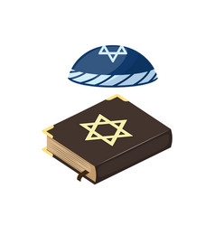Muslim tradition islam hat source jew bible book vector