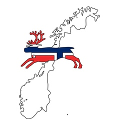 Norwegian reindeer vector image
