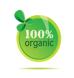 organic 100 precent sign vector image