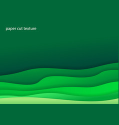 Paper art cartoon abstract waves for background vector
