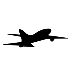 Planes black silhouette vector