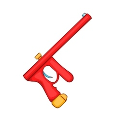 Red paintball gun icon cartoon style vector