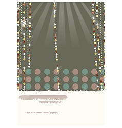 retro glamorous decorations vector image