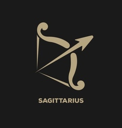Sagittarius Horoscope Icon vector