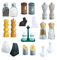 Salt shaker design pepper bottle glass vector