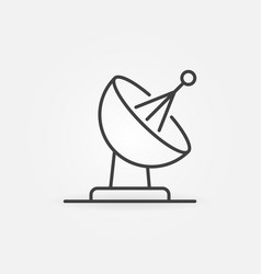 Satellite dish concept icon in outline vector
