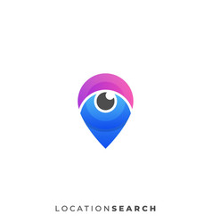 search pin template vector image