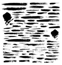 set brushes grunge design elements vector image