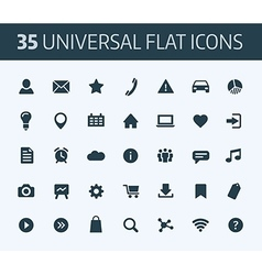 Set of universal flat icons for print or internet vector image