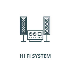 stereo sound hi fi system line icon vector image