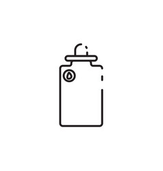 Thin line water bottle icon vector